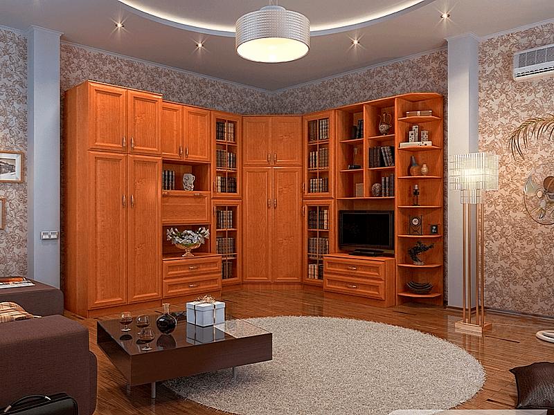 декоративная большая угловая в комнату стенка фото помощью можно